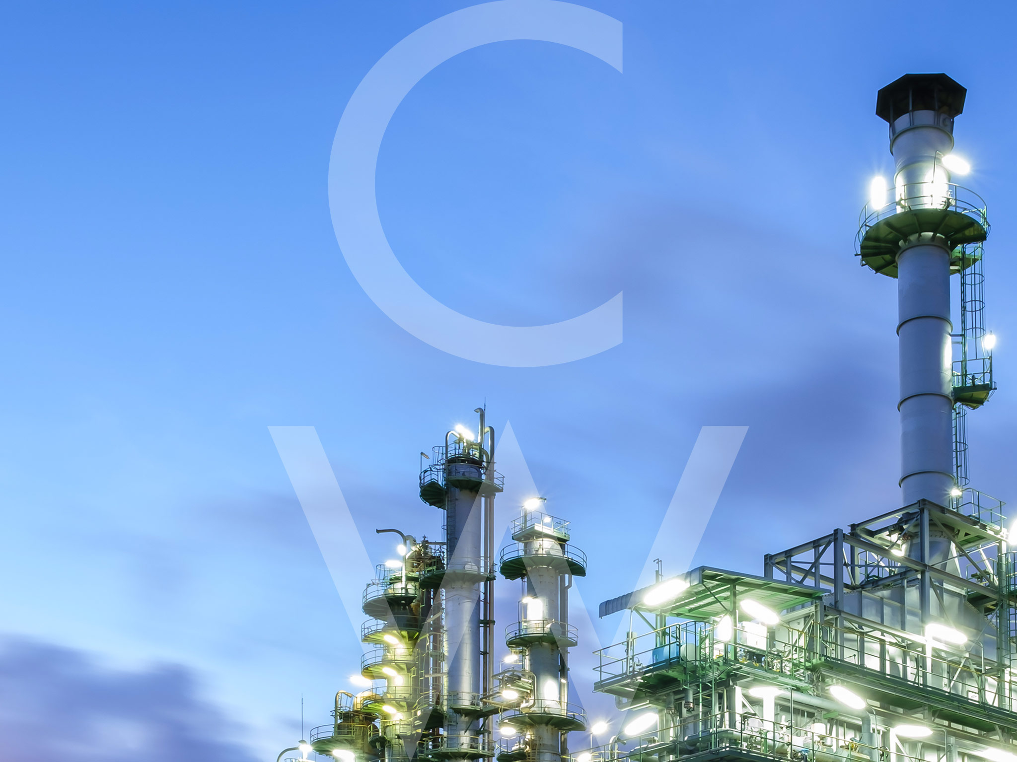 This is an image of an oil and gas factory.
